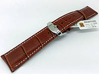 Ремешок кожаный Hightone HT-333 для наручных часов с классической застежкой, коричневый, 20x18 мм