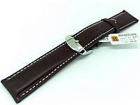 Ремешок кожаный Hightone HT-337 для наручных часов с классической застежкой, черный, 20x18 мм