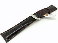 Ремешок кожаный Hightone HT-343 для наручных часов с классической застежкой, черный, 20x16 мм
