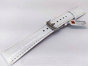 Ремешок кожаный Hightone HT-345 для наручных часов с классической застежкой, белый, 20x16 мм