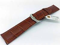 Ремешок кожаный Hightone HT-352 для наручных часов с классической застежкой, коричневый, 20x18 мм