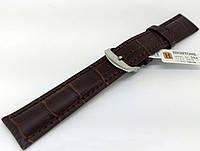 Ремешок кожаный Hightone HT-354 для наручных часов с классической застежкой, коричневый, 20x18 мм