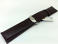 Ремешок кожаный Hightone HT-386 для наручных часов с классической застежкой, коричневый, 22x20 мм