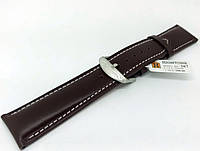 Ремешок кожаный Hightone для наручных часов с классической застежкой, коричневый, 22 мм