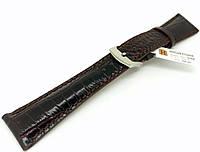 Ремешок кожаный Hightone HT-398 для наручных часов с классической застежкой, коричневый, 22x16 мм