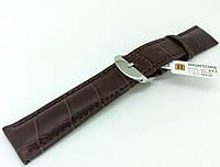 Ремешок кожаный Hightone HT-412 для наручных часов с классической застежкой, коричневый, 22x20 мм