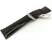 Ремешок кожаный Hightone HT-436 для наручных часов с классической застежкой, черный, 24x20 мм