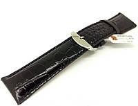 Ремешок кожаный Hightone для наручных часов с классической застежкой, черный, 26 мм