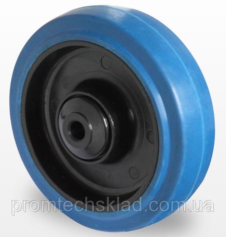 Колесо эластичная резина/полиамид 80 мм, подшипник шариковый (Германия)