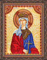 Набор для вышивки бисером именной иконы  «Святая Валерия»