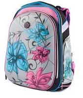 """Ранец SchoolCase """"Flowers"""" 2 відд, 39*28*21см, Nylon PL, 9624 CLASS"""