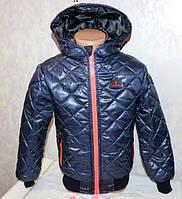 Демисезонная стеганная куртка для мальчиков весна-осень, размеры 38,