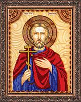Набор для вышивки бисером именной иконы  «Святой Евгений»