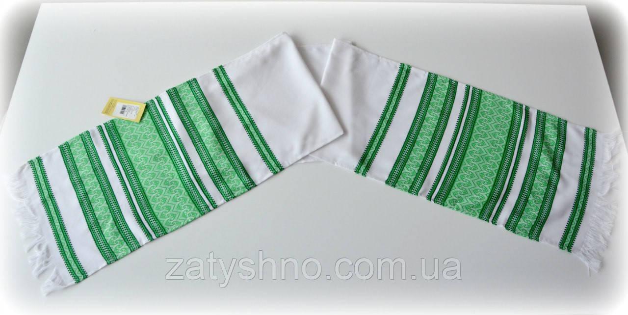 Рушнык зеленый вышитый