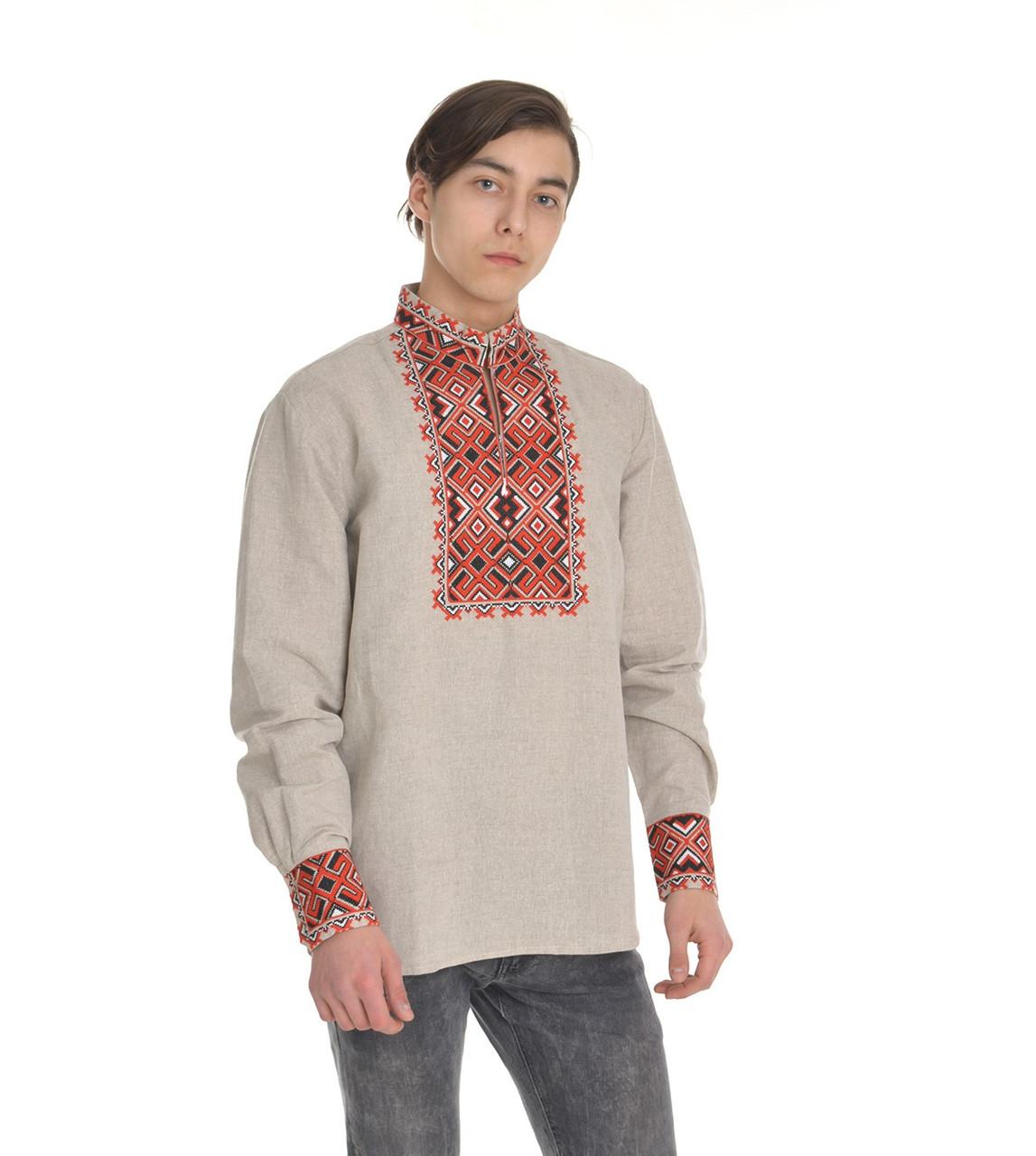 Мужская вышитая рубашка Атаман