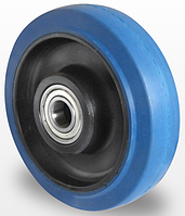 Колесо эластичная резина/полиамид 160 мм, подшипник роликовый (Германия)