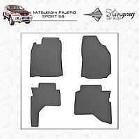 Коврики резиновые в салон Mitsubishi Pajero Sport с 1996 (4шт) Stingray