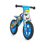 Велосипед беговой велокат Milly Mally беговел KING 2015 BOB надувные колеса сумка с молотком дерево Польша