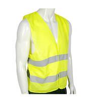 Жилет безопасности светоотражающий 60 гр/м2 (Салатовый / Оранжевый), фото 1