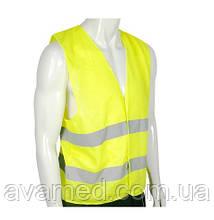 Світловідбиваючий Жилет безпеки 60 гр/м2 (Зелений / Оранжевий)
