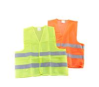 Жилет безопасности светоотражающий 100 гр/м2 (Салатовый / Оранжевый), фото 1