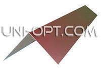 Конек для крыши оцинкованный 2м(15×15)