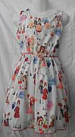 Платье бусы шифоновое