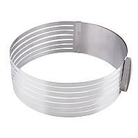 Раздвижное кольцо для нарезания бисквита от 24 см до 30 см
