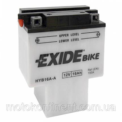 Аккумулятор для мотоцикла сухозаряженный EXIDE YB6A-A 16AH 150x90x80, фото 2