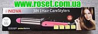 Плойка для завивки + утюжок для выравнивания волос Nova NHC-9902