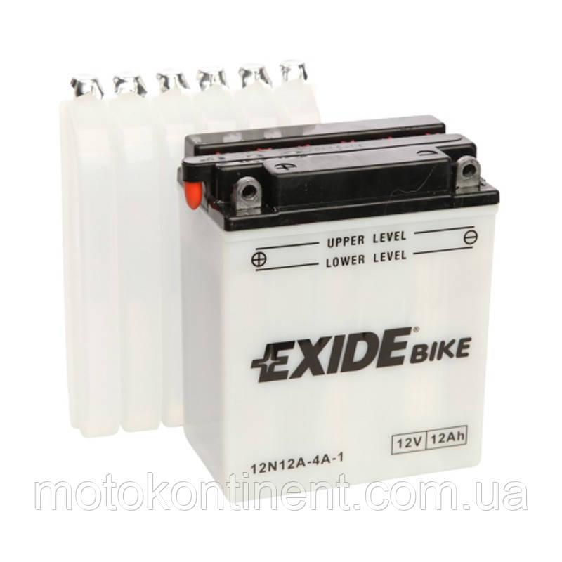 Аккумулятор для мотоцикла сухозаряженный EXIDE 12N12A-4A-1  12AH 134X80X160