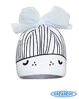 Гламурная детская шапочка для девочки Бант, BARBARAS (Польша)