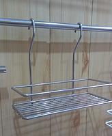 Полочка навесная 25 см для кухни, цвет серый