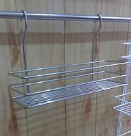 Полочка навесная 35 см для кухни, цвет серый
