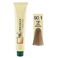 Джениус Колор Пак Полуаммиачная краска для волос 90.1 Хай Лифт Пепельный блонд, 100 мл