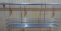 Полочка навесная 45 см для кухни, цвет серый