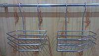 Полочка навесная угловая для кухни, цвет серый