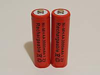 Аккумулятор батарейка АА 3000mah 1.2v 2шт.