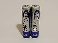 Аккумулятор батарейка BTY ААА 1000mah 1.2v 2шт.