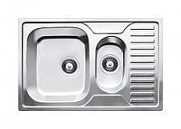 Fabiano Мойка кухонная стальная Fabiano 780*500 plus микродекор