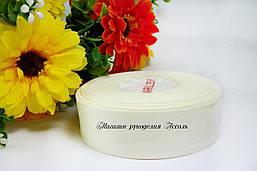 Репсовая лента айвори кремовый 2.5см