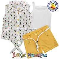 Костюм с шортами тройка для девочек от 2 до 5 лет Турция (5110-2)