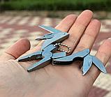 Брелок набор инструментов плоскогубцы отвертка 5в1, фото 4