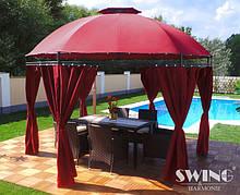 Круглый павильон Swing & harmonie 3.5 м красный с LED освещением