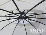 Круглый павильон Swing & harmonie 3.5 м Коричневый  с LED освещением, фото 4