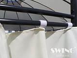 Круглый павильон Swing & harmonie 3.5 м Коричневый  с LED освещением, фото 7