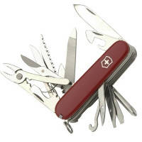 Нож складной, мультитул Victorinox Сraftsman (91мм, 24 функций), красный, чехол 14773