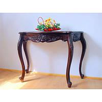 Стильный пристенный столик (консоль) резьбленный