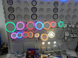 LED панель Lemanso LM548 Грек круг 18+6W розовая подсветка 1440Lm 4500K, фото 3