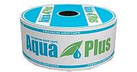 Капельная лента Aqua Plus щелевидная 8ml, капельницы через 10см (вылив - 1л./час) , бухта - 1000м